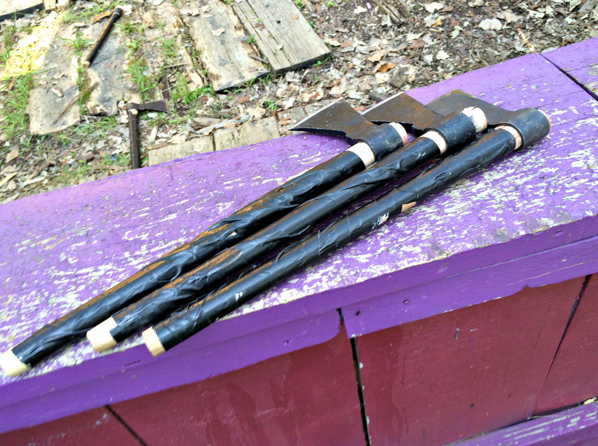 Renaissance Festival throwing axes