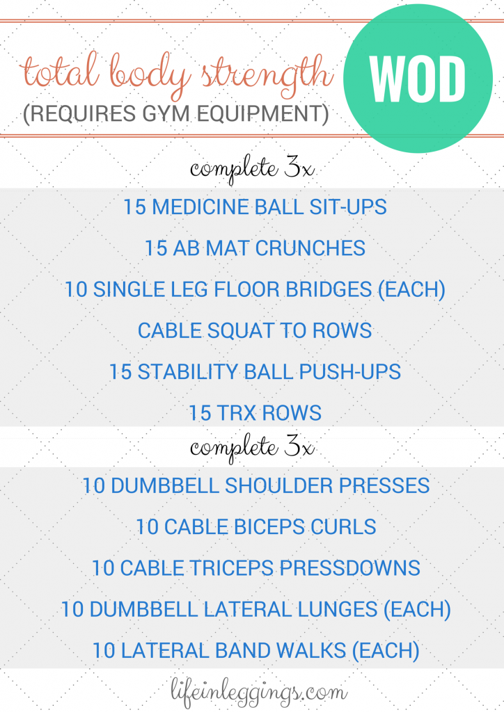 Total Body Strength Training Workout (at the gym)