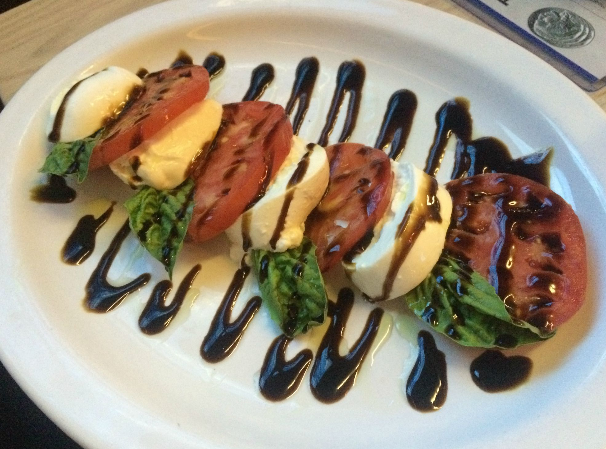 Triple Nickel caprese salad