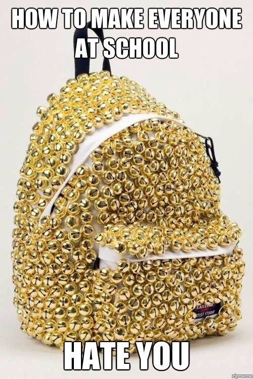 back to school funny backpack