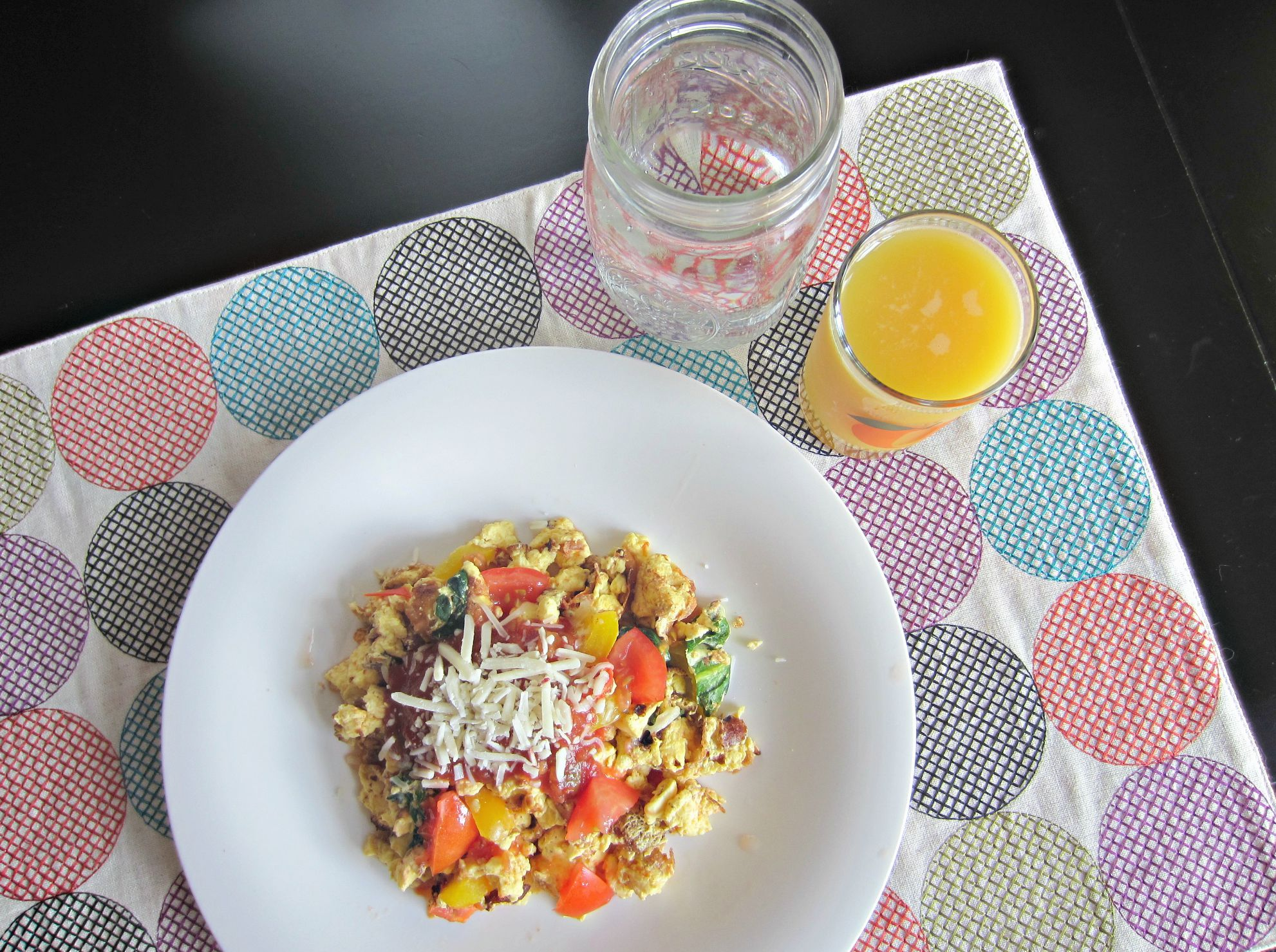 healthy egg scramble