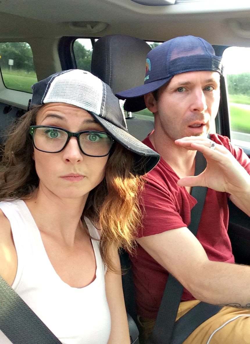heather and scott driving