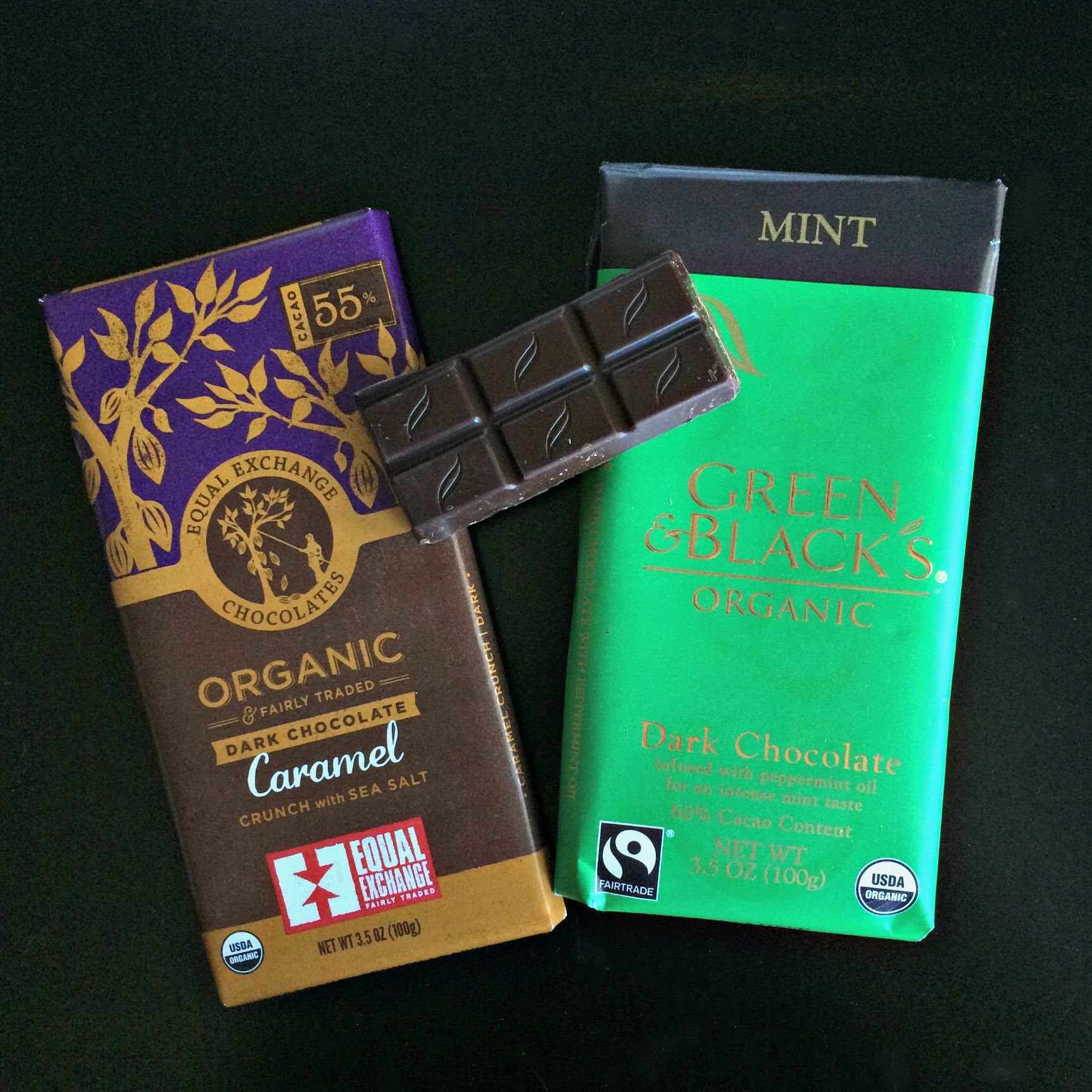organic dark chocolate flavors