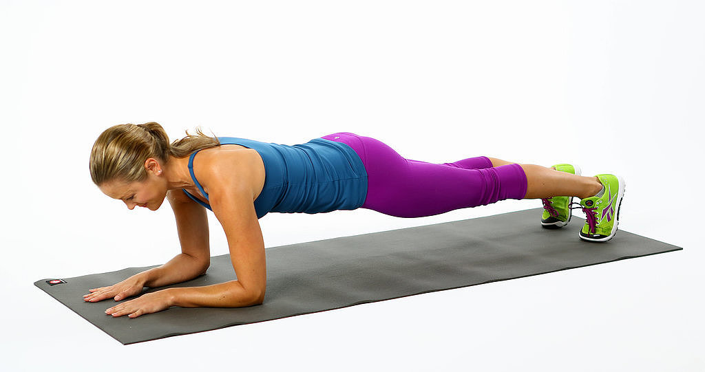 plank hold on elbows popsugar