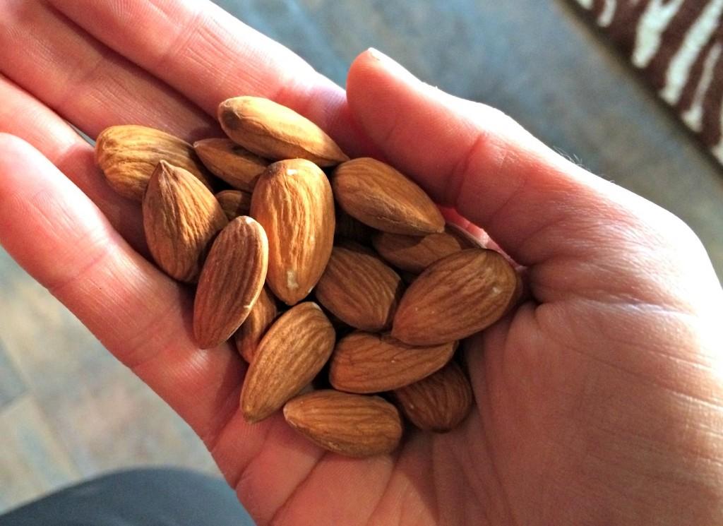 raw unsalted almonds