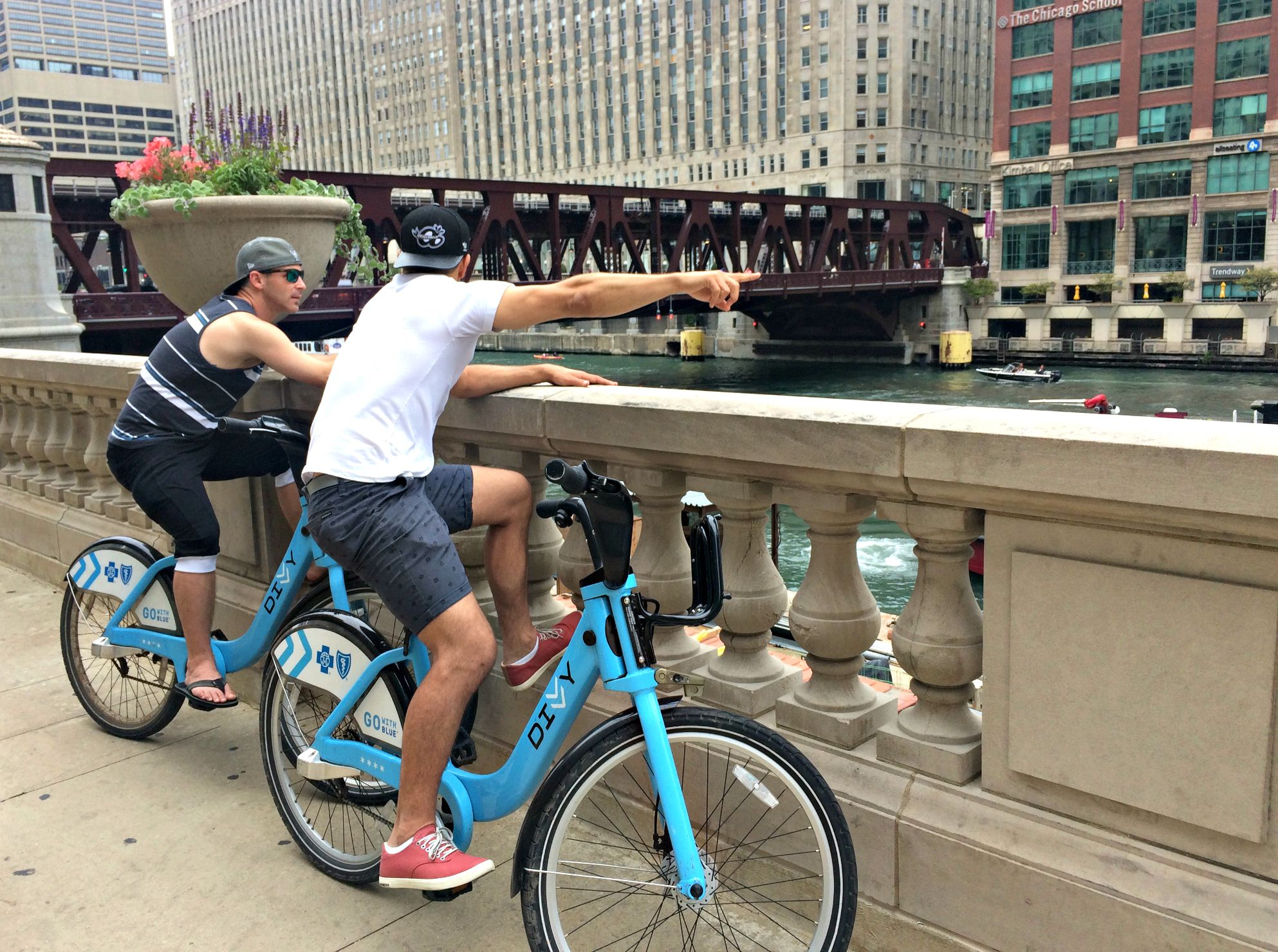 riding bikes with barry and scott in chicago