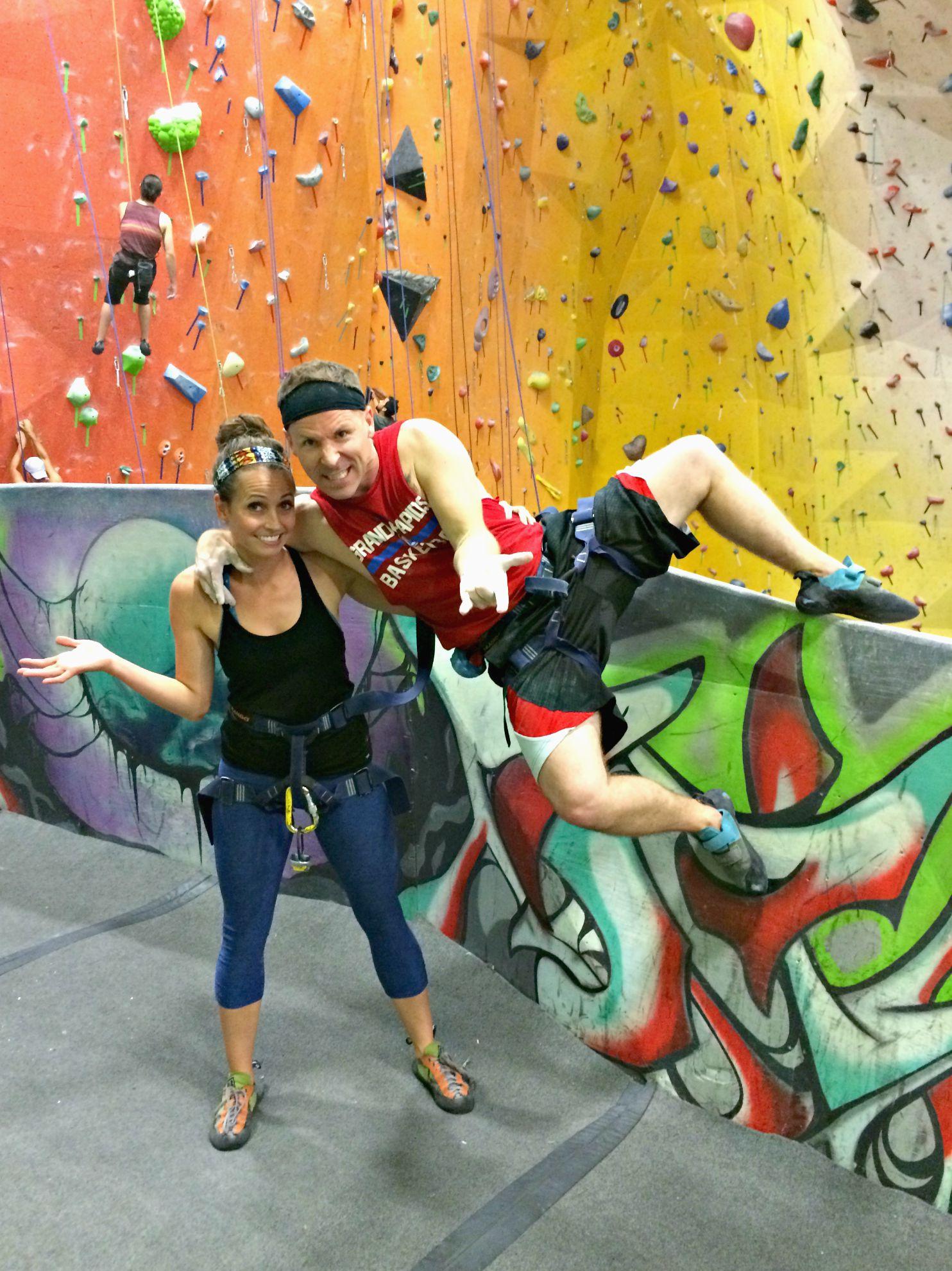 rock climbing training gym with scott