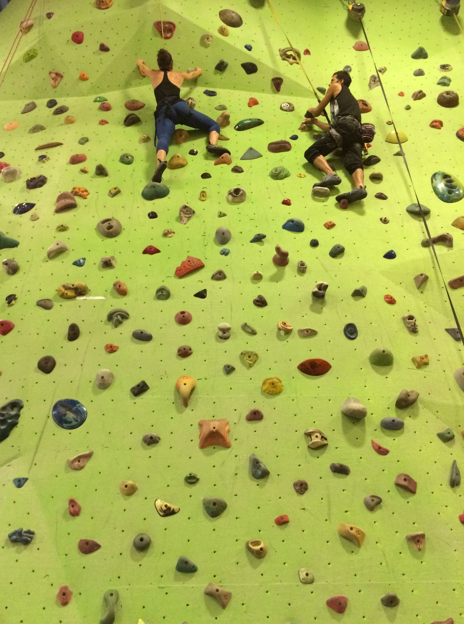 rock climbing wall training