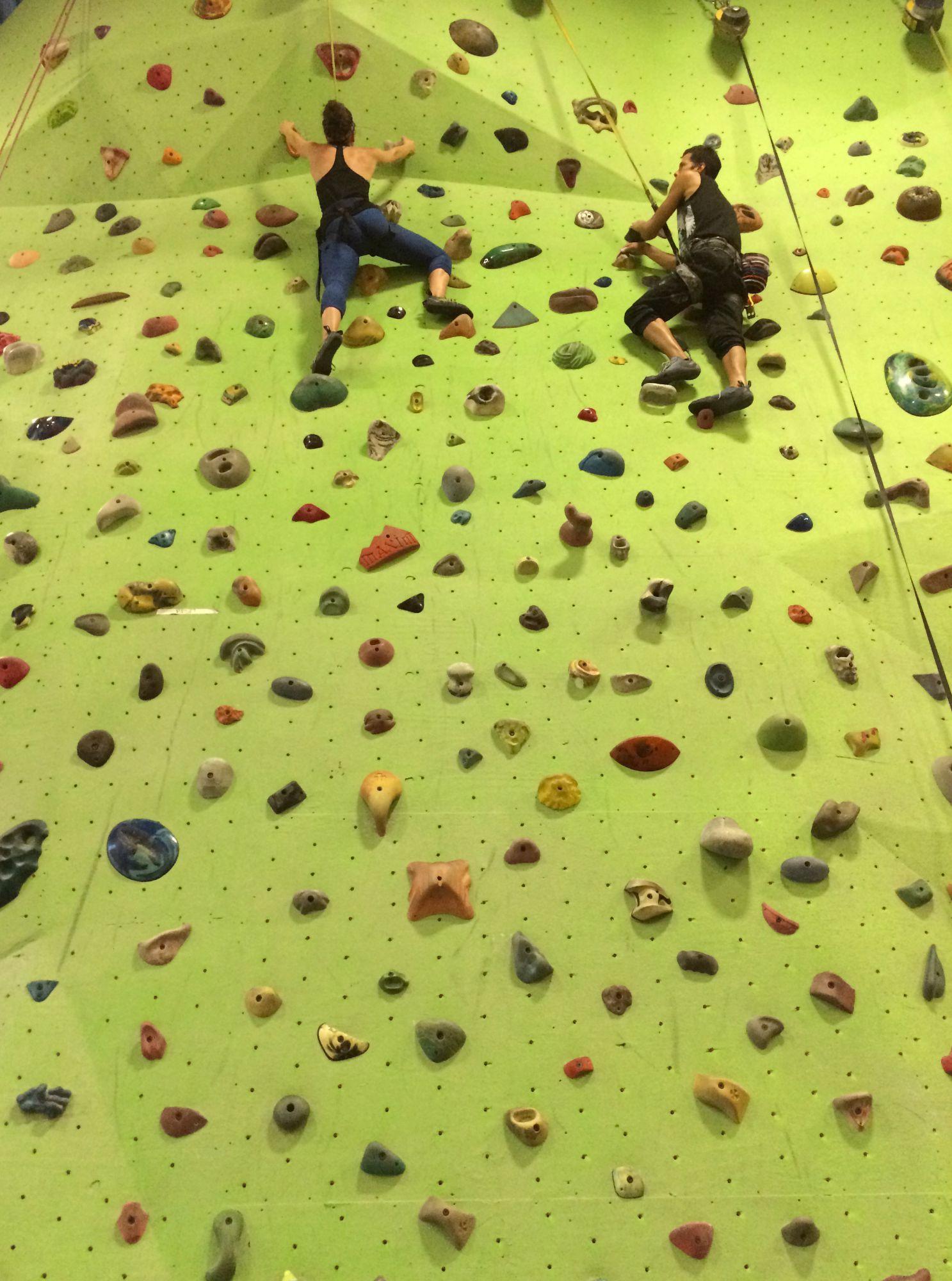 rock climbing wall training
