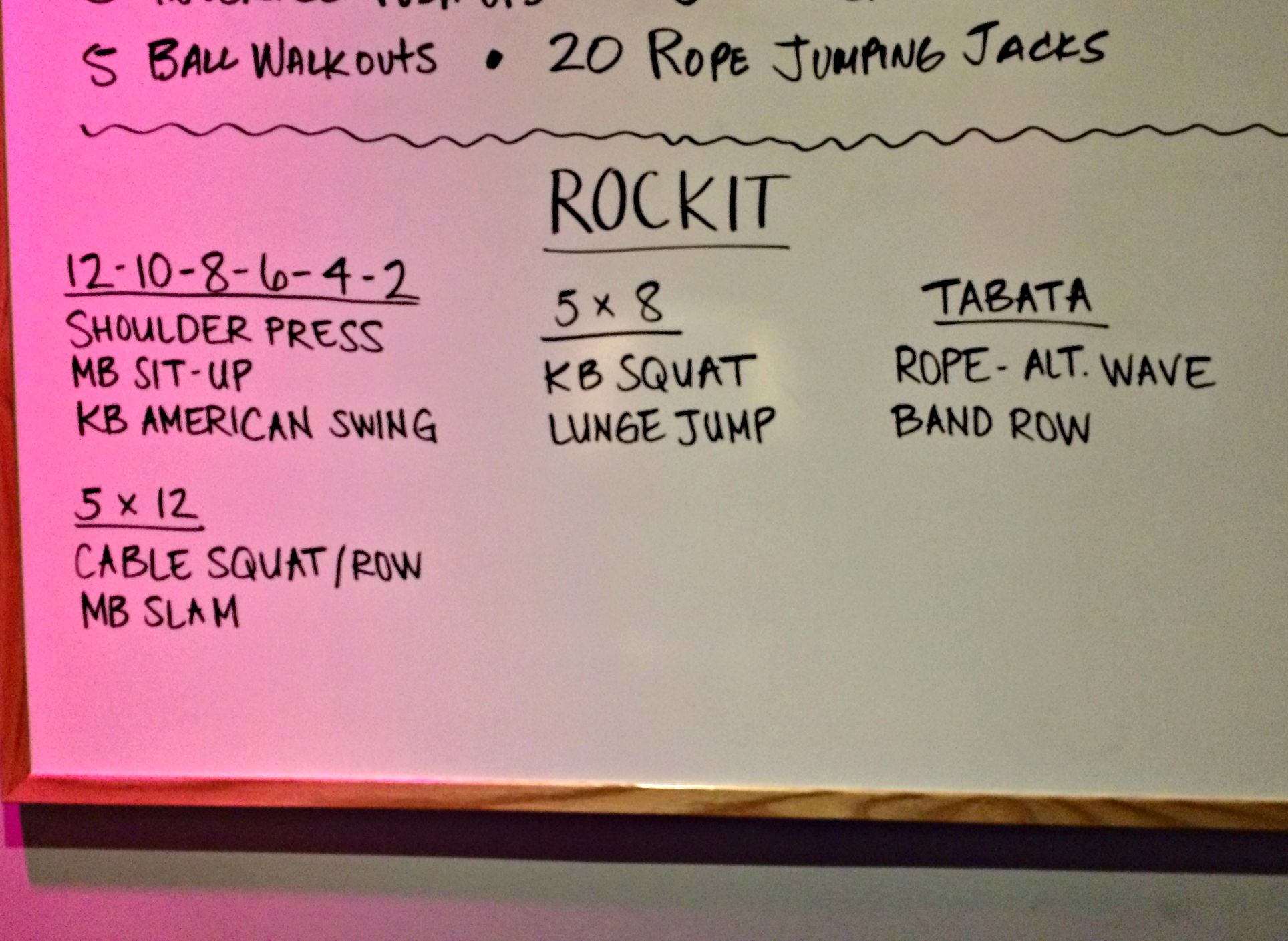 rockit class workout of the day