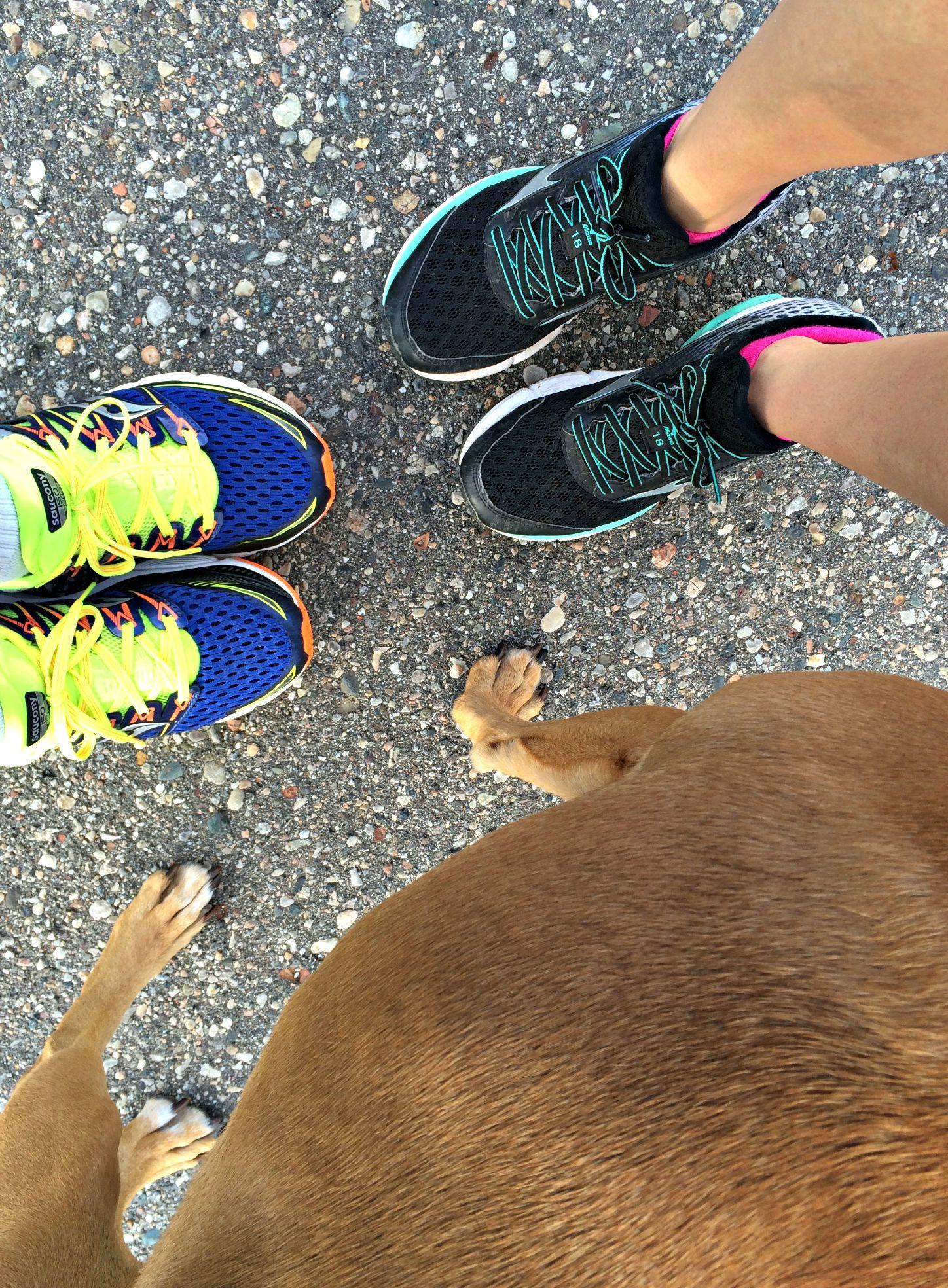 running with scott and roadie