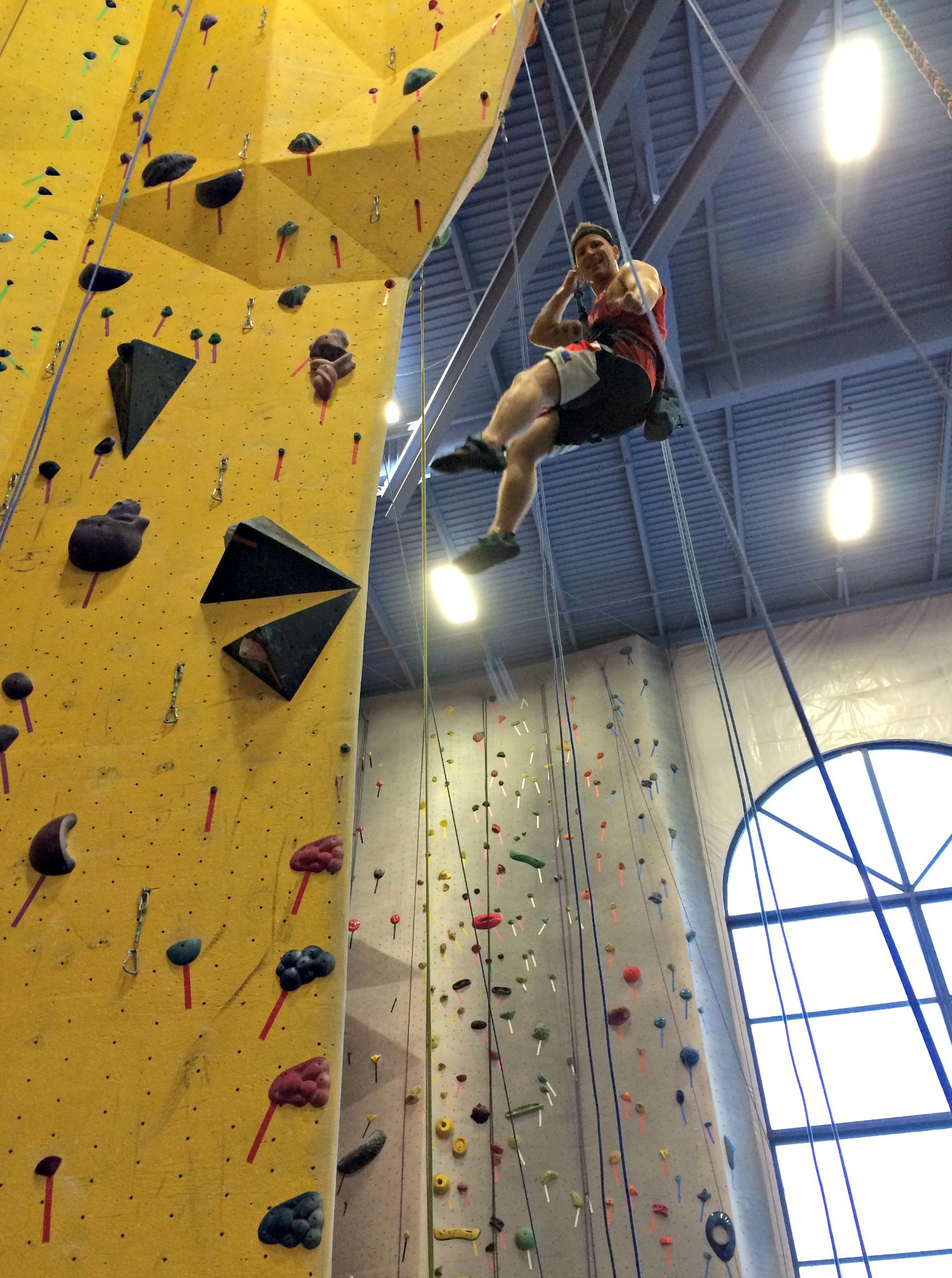scott rappelling in climbing