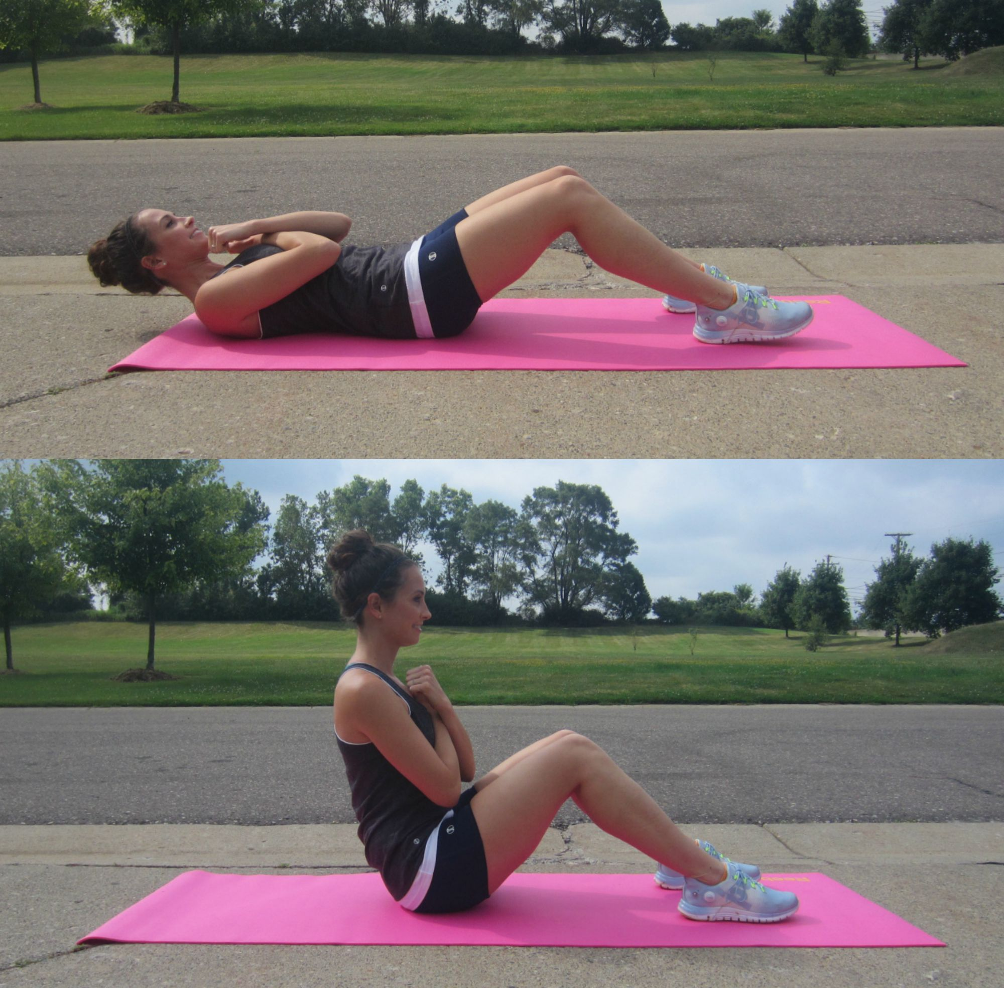 sit up exercise modification