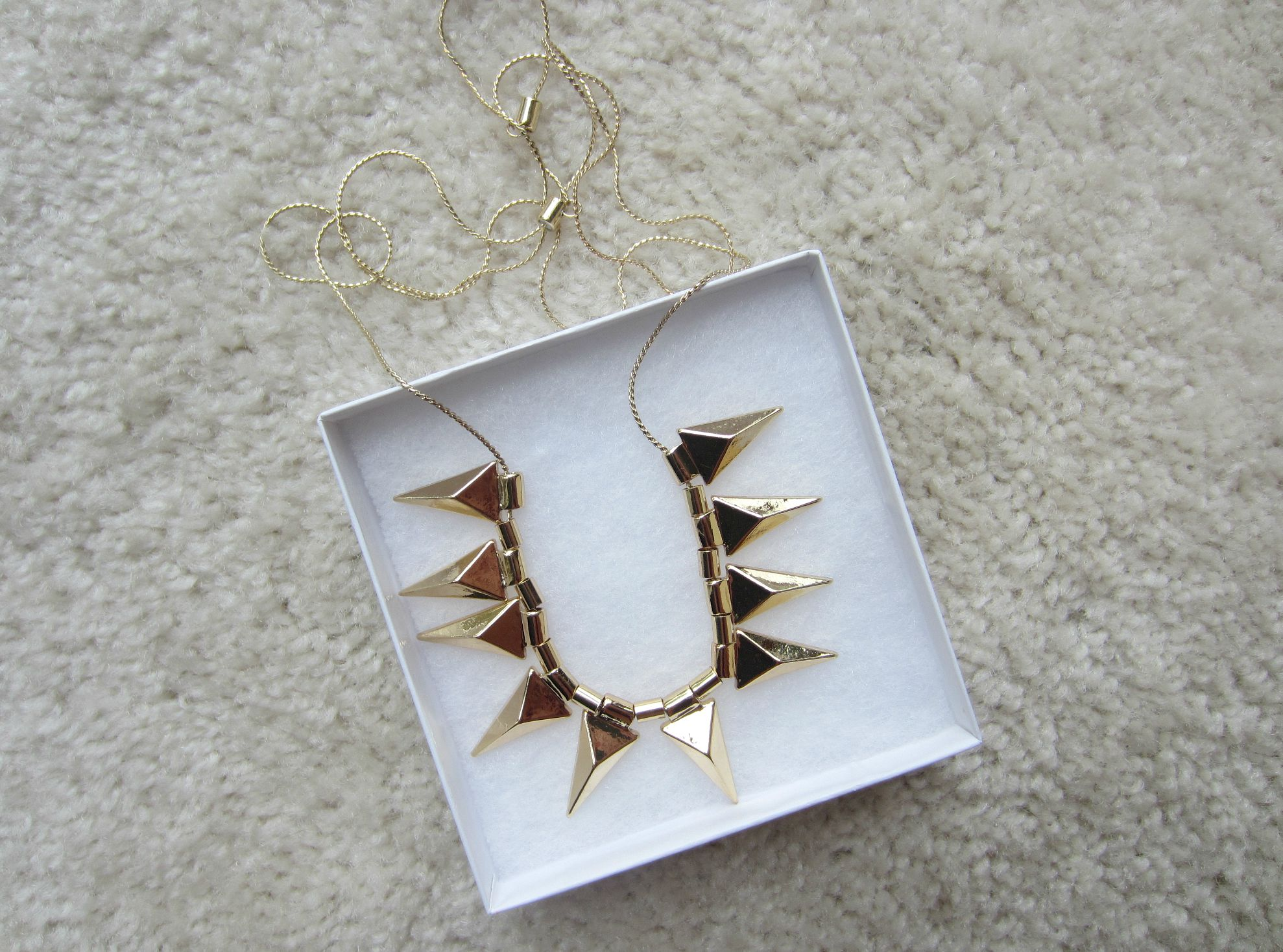 stitch fix romolo rania metal spike necklace gold