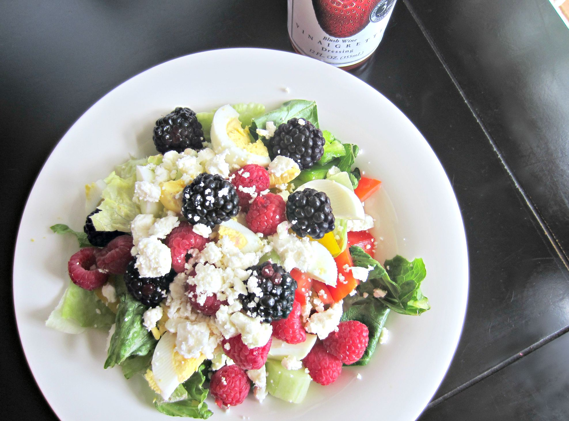 summer fruit and egg salad