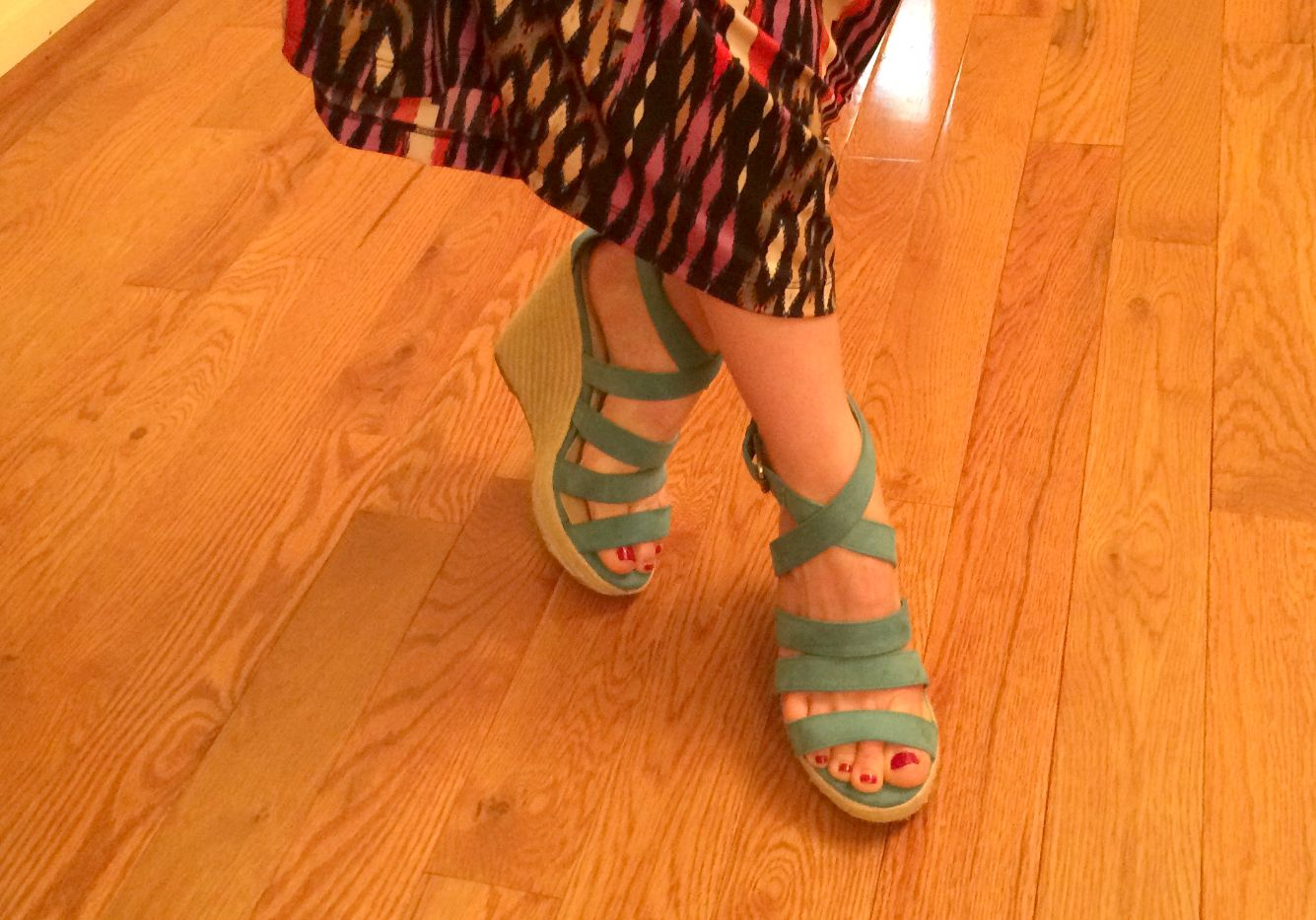 teal wedges from target