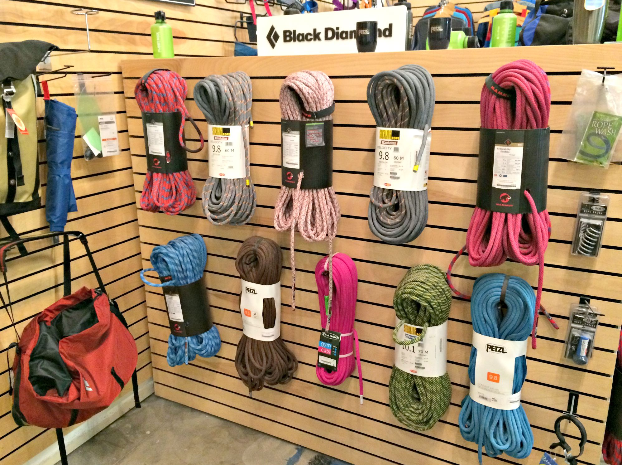 training ropes for rock climbing