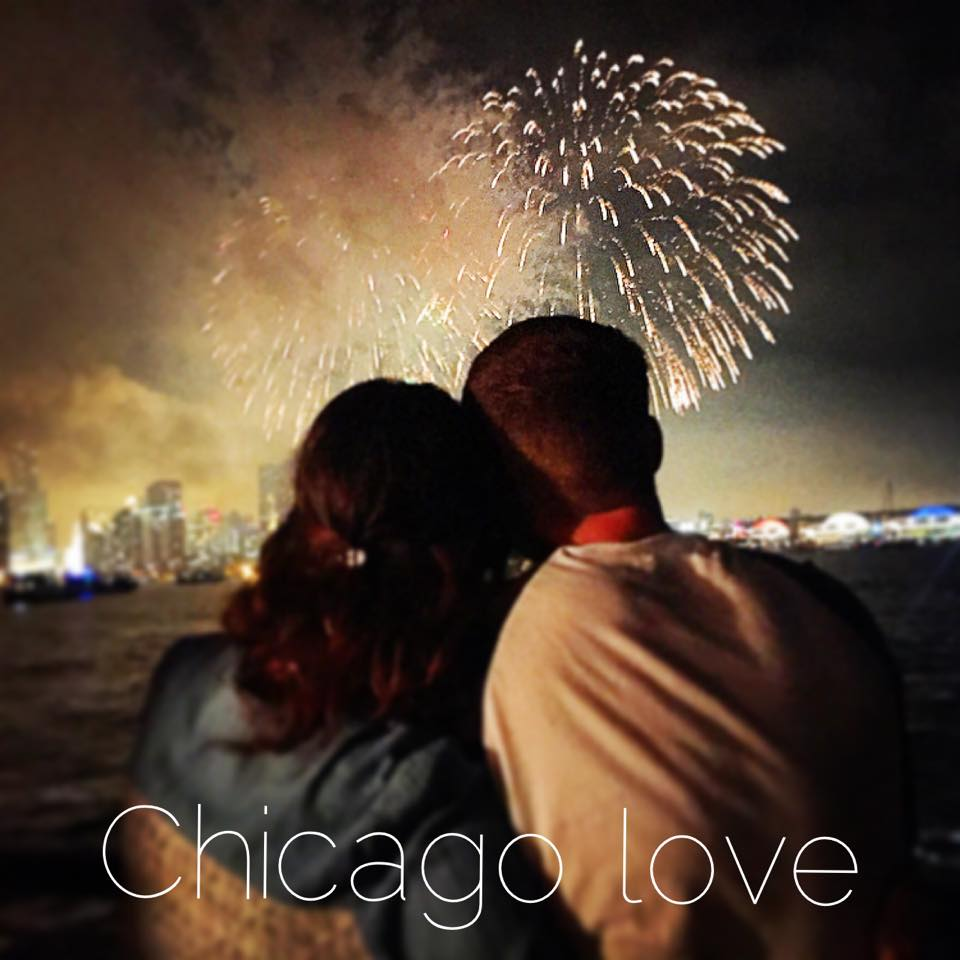 watching the fireworks with scott