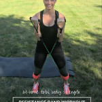 At-Home Resistance Band Workout & Giveaway
