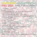 Fall 2015 Workout Playlist