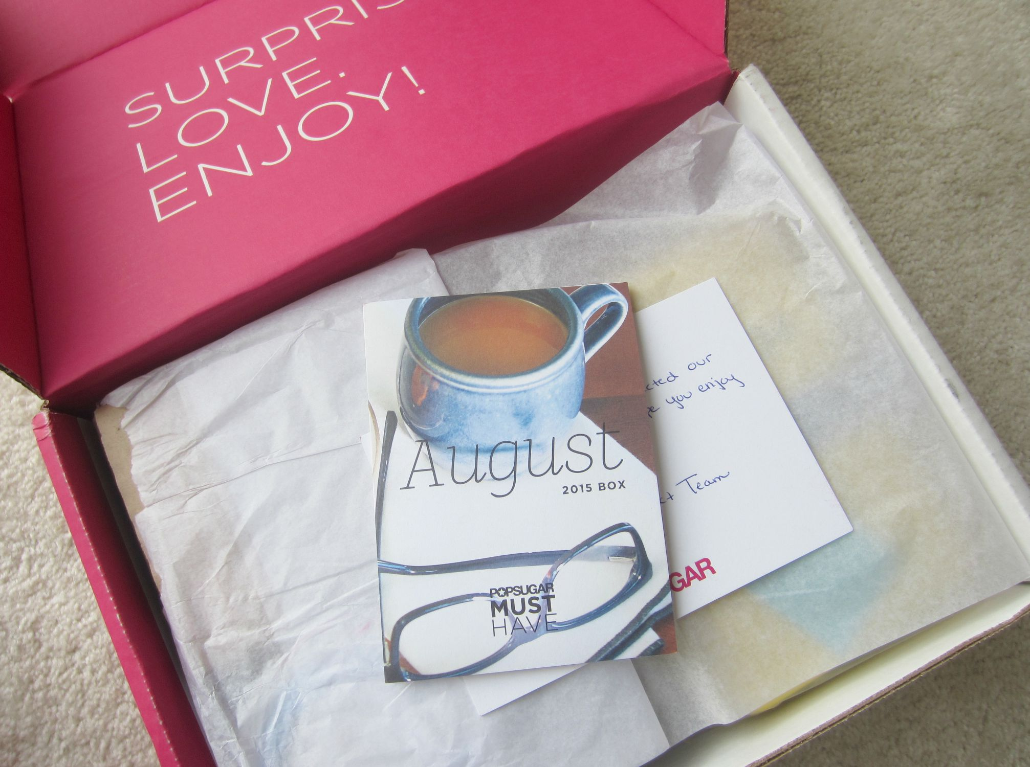 POPSUGAR Must Have Box - August 2015