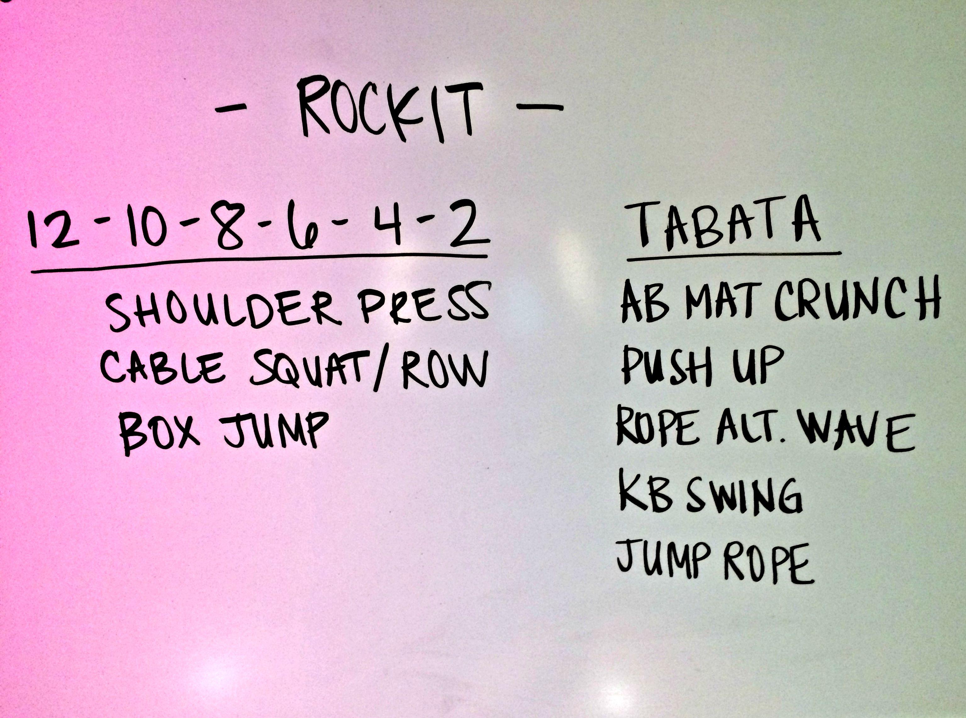 Rockit Class workout