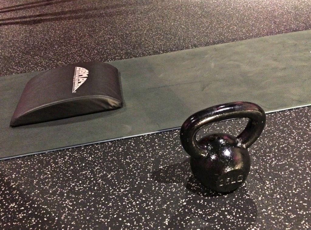 ab mat and kettlebell