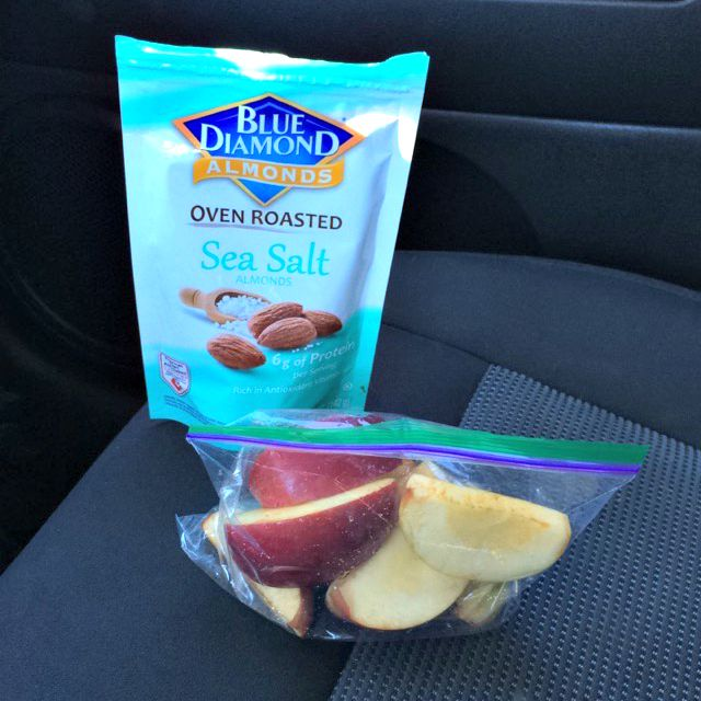 almonds and apple slices healthy snack