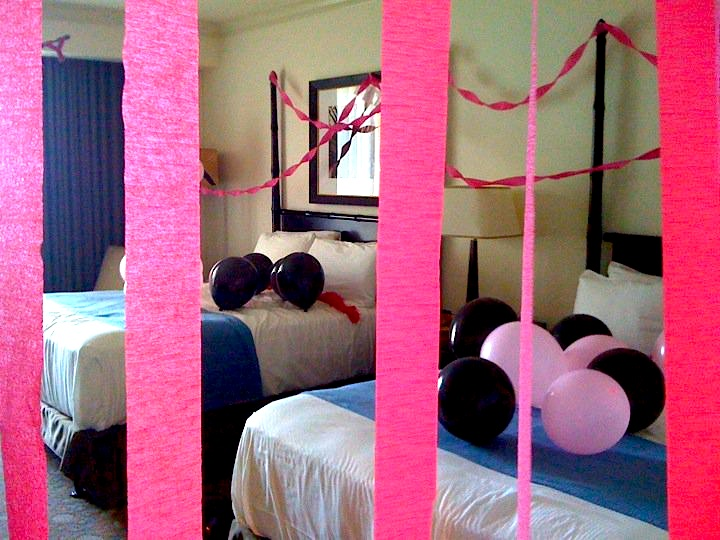 ashleys bachelorette hotel room