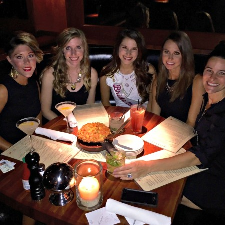 bachelorette dinner at bandera chicago