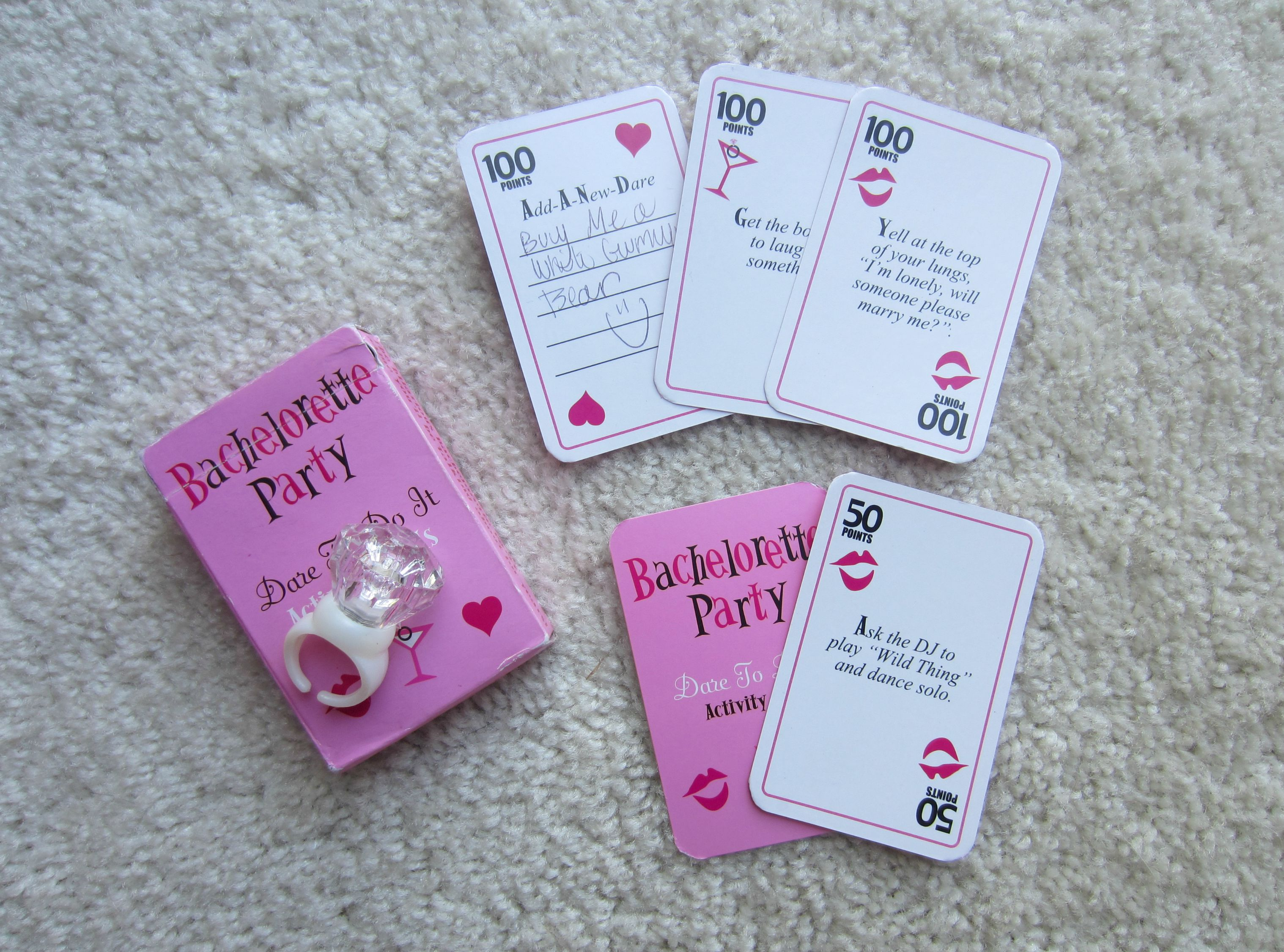 bachelorette party activity cards