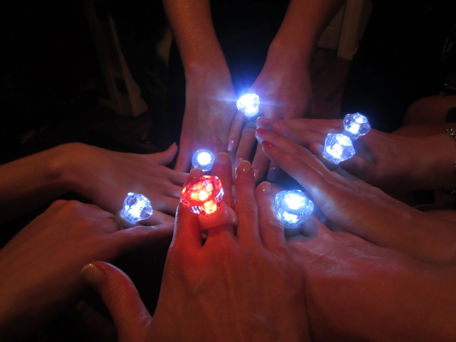 bachelorette party light up rings
