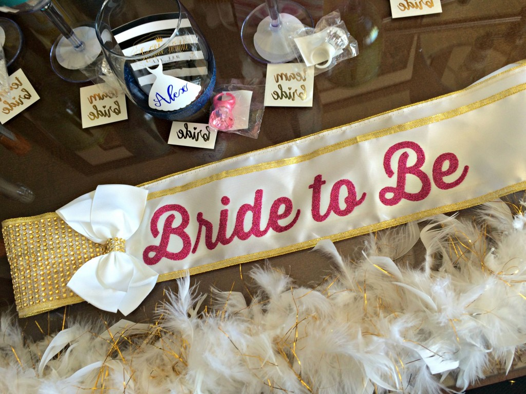 bride to be sash and bachelorette party decorations