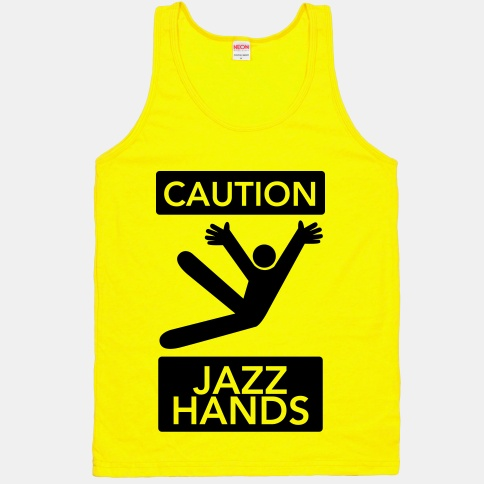 caution jazz hands tank