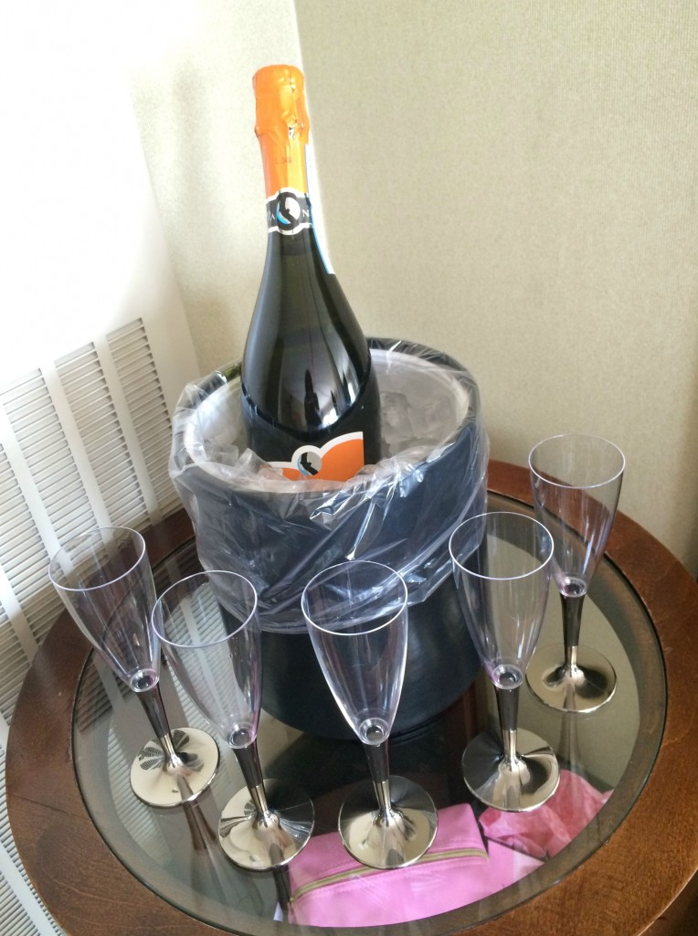 champagne toast bachelorette party