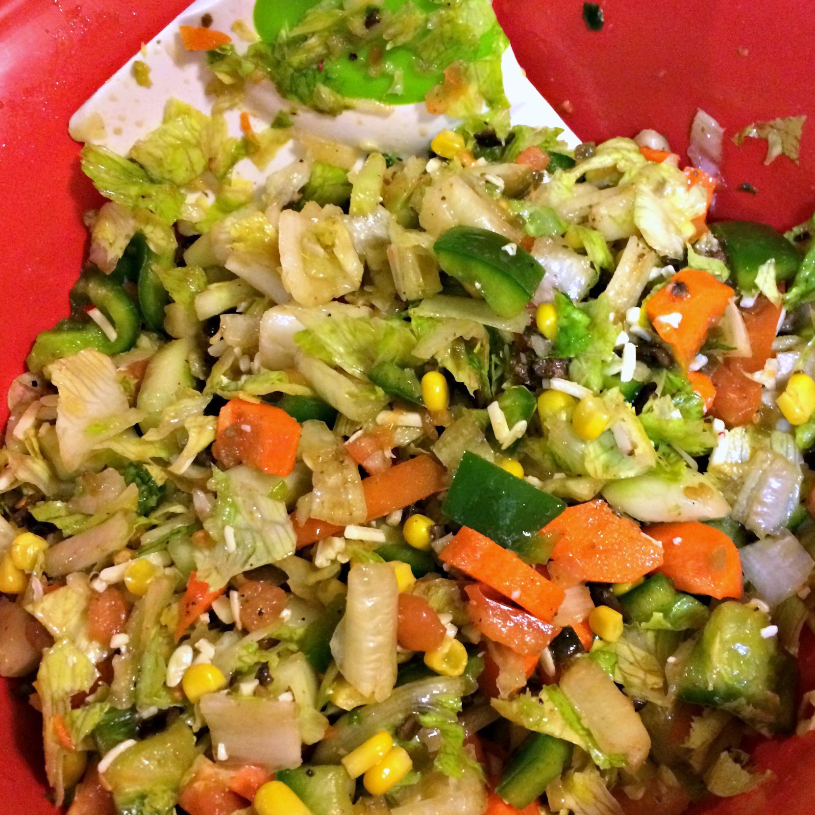 chopped salad with veggie chopper
