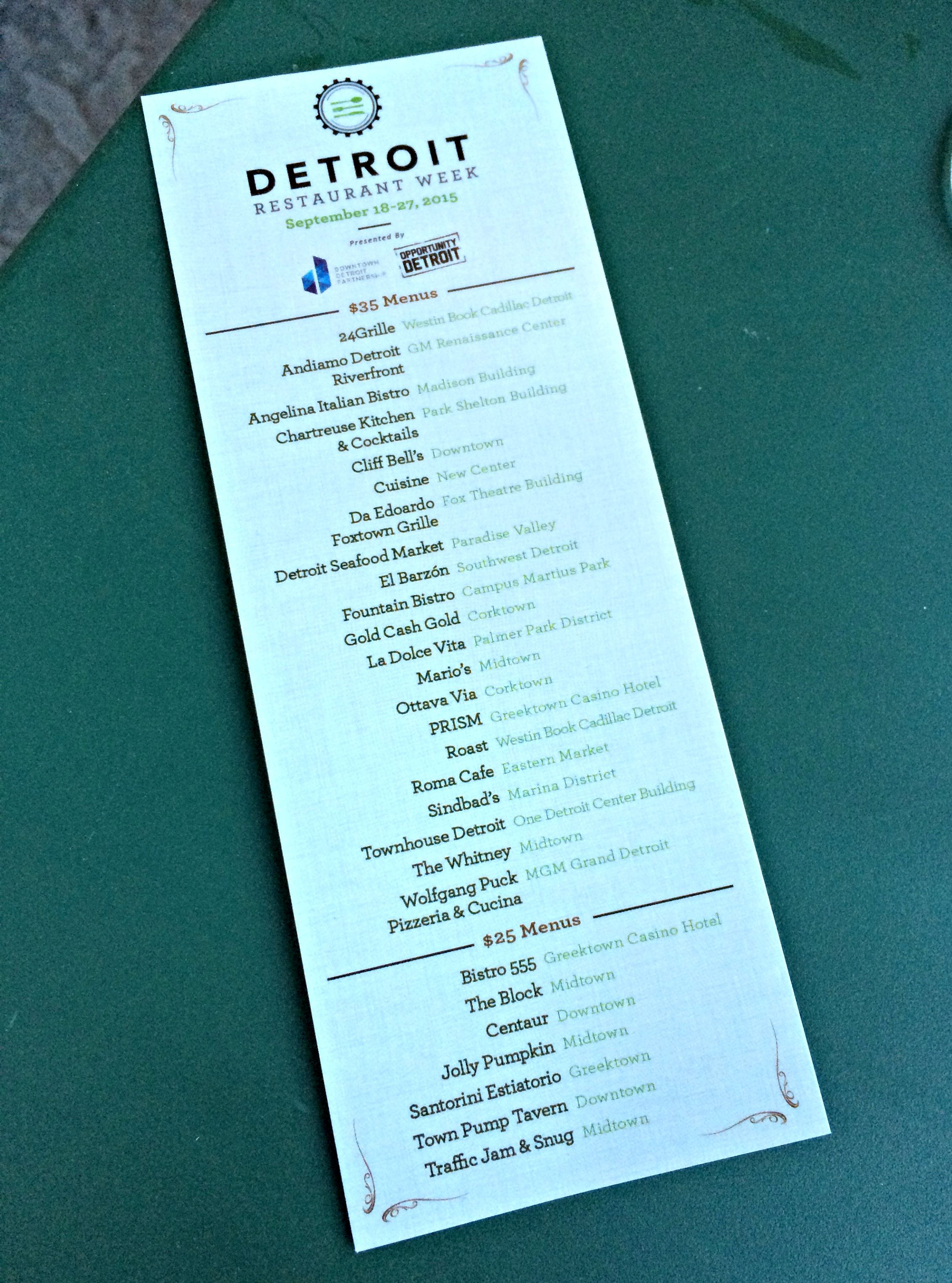 detroit restaurant week 2015
