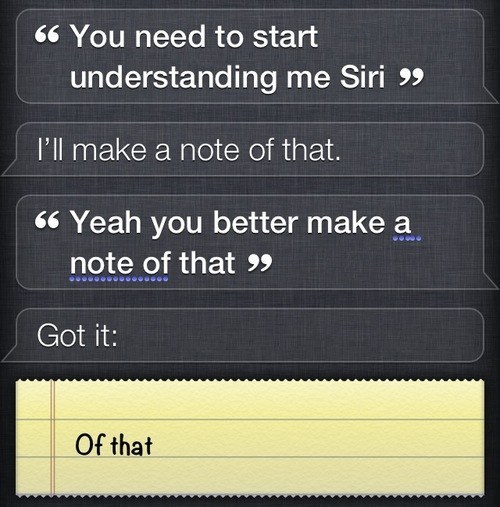 funny siri message