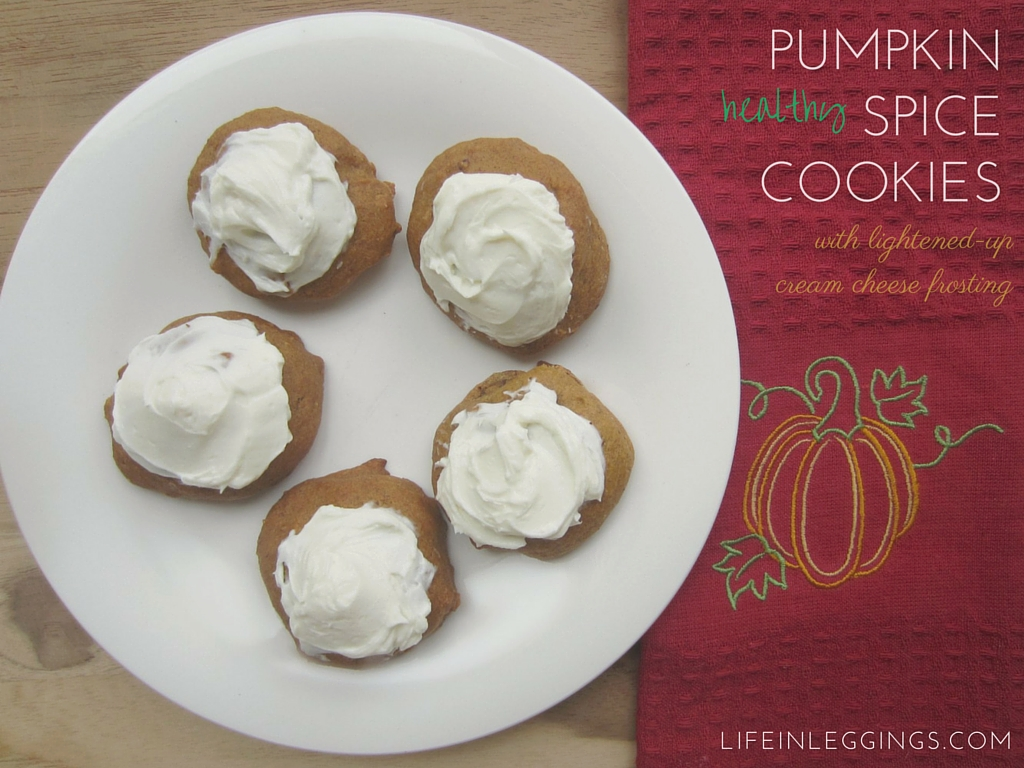 healthy pumpkin spice cookies