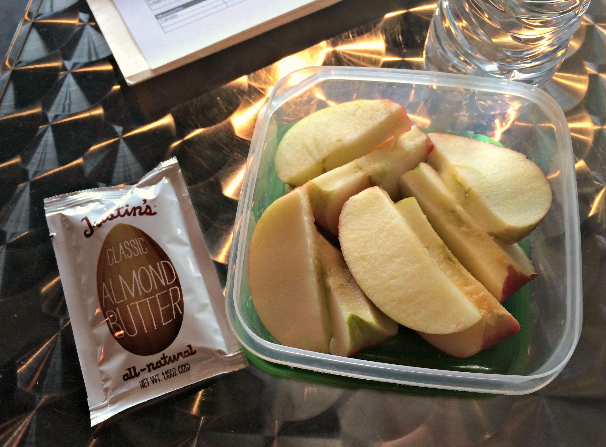 healthy snack apple and almond butter