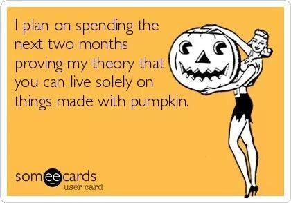 living on pumpkin