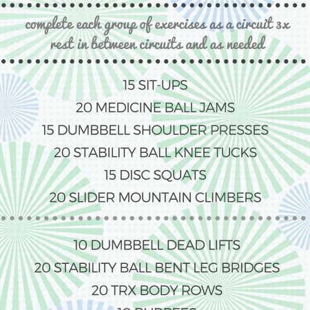 power gym circuit workout