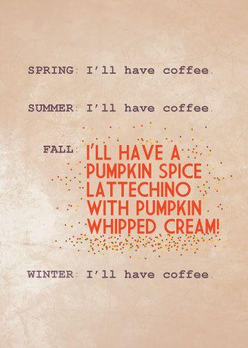 pumpkin spice latte humor