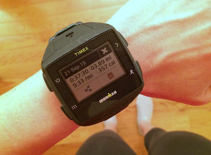 running stats timex ironman watch