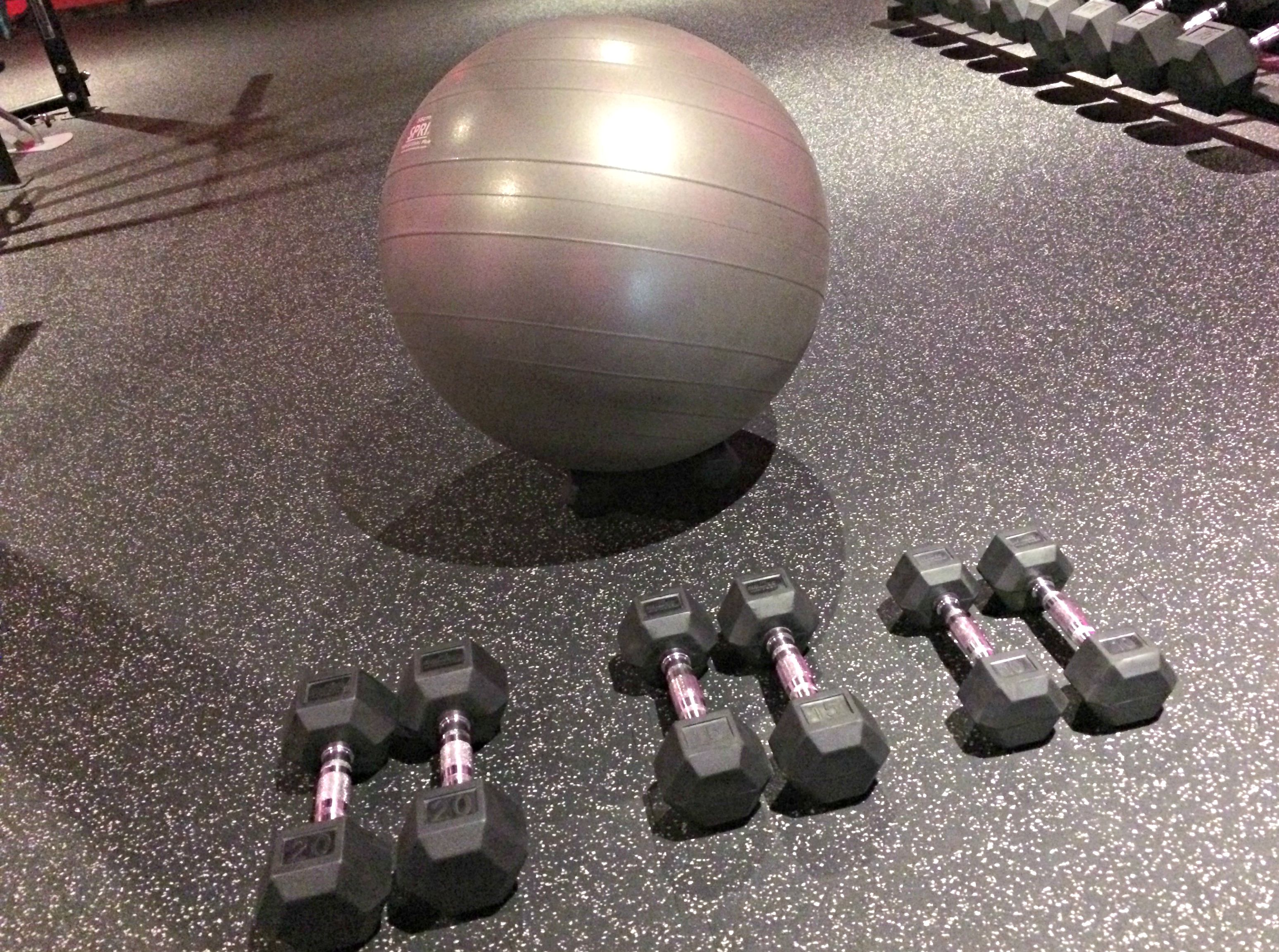 stability ball and dumbbell workout