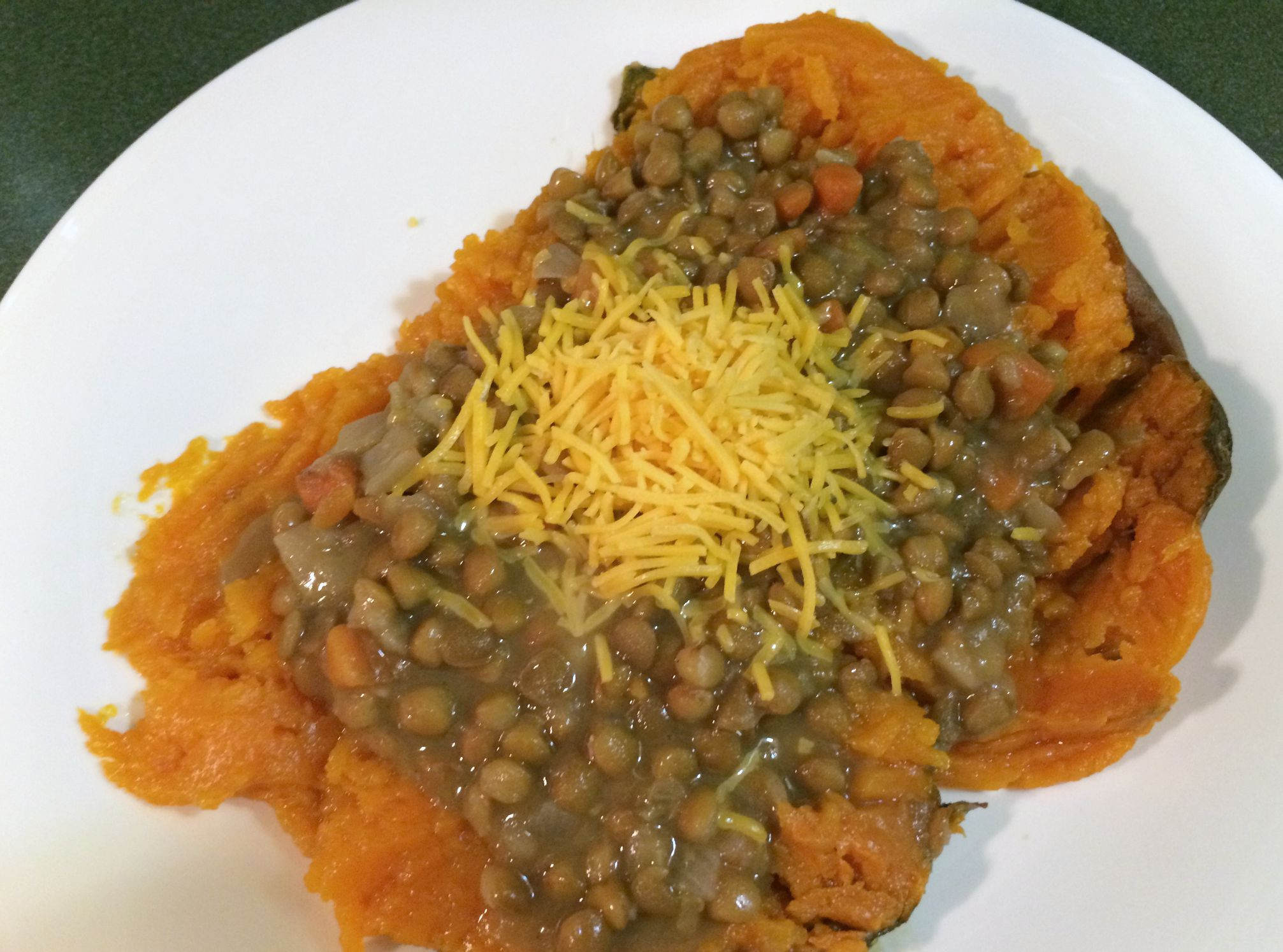 sweet potato with amy's lentil vegetable soup
