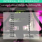 Weekly Workouts & (New) Interval Bike Workout