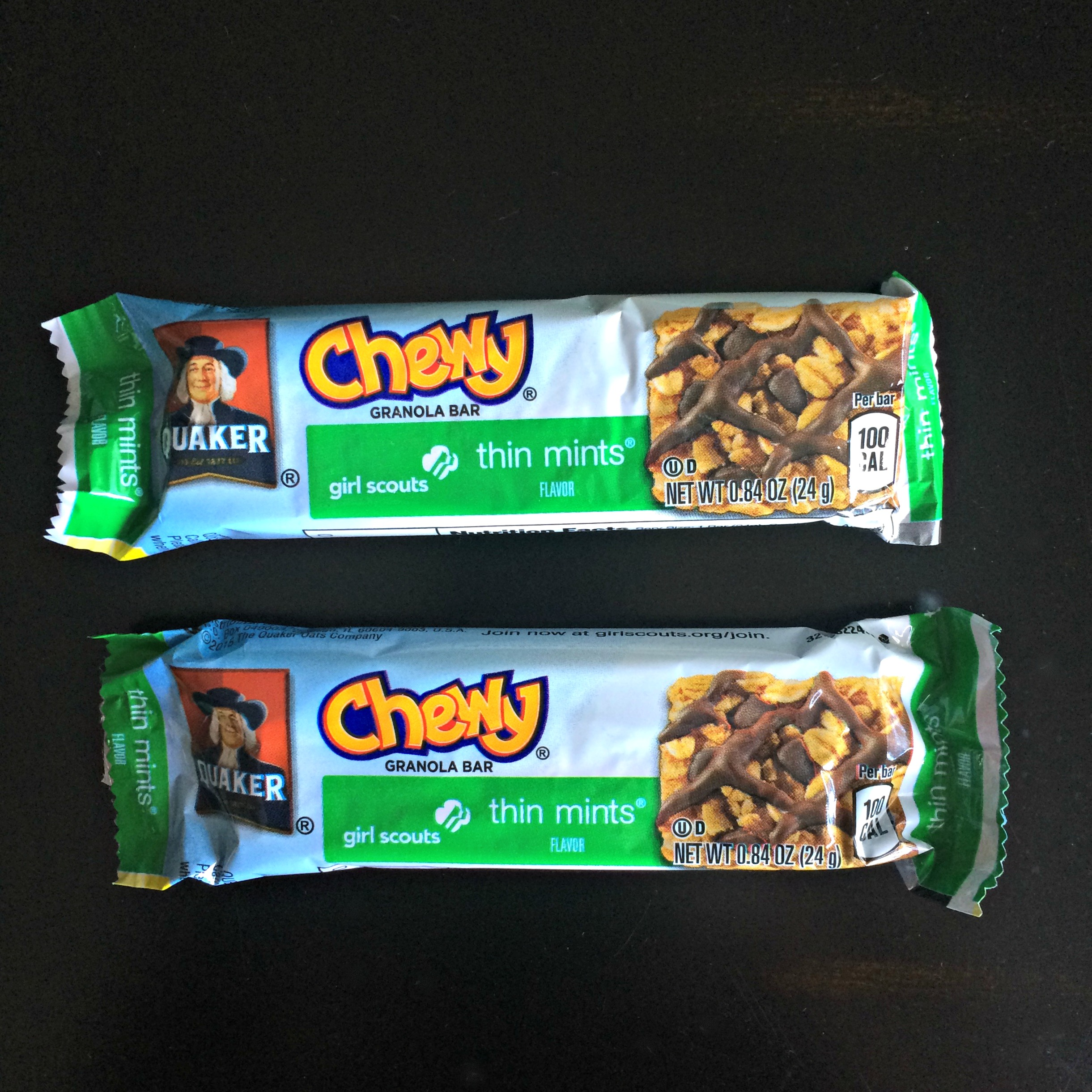 Chewy granola bar thin mints