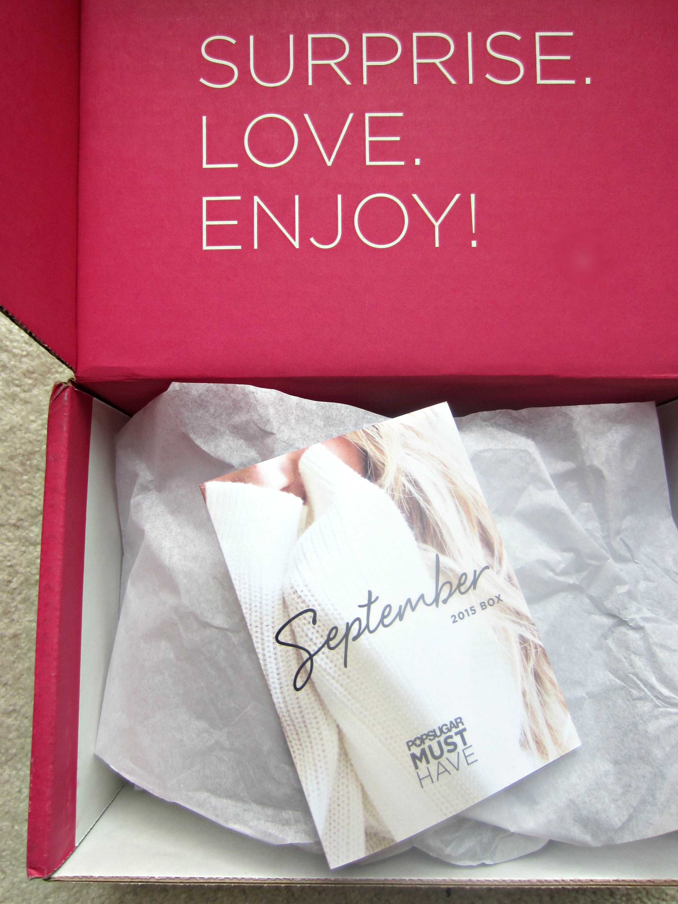 September POPSUGAR Must Have Box Review