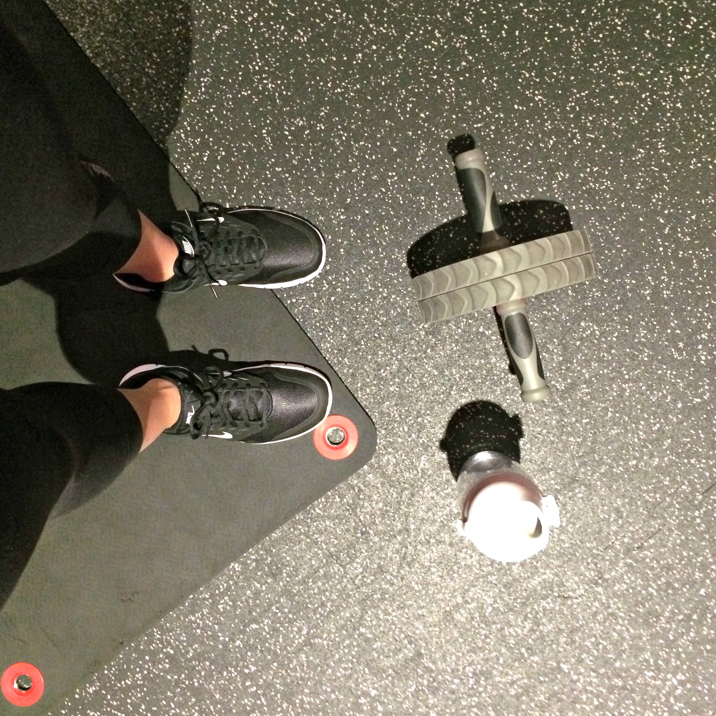 ab wheel and exercises at gym